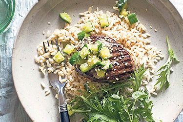 Beef fillet steak with pickled cucumber