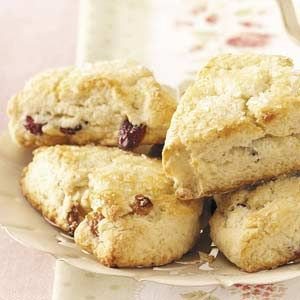 Cranberry Scones Recipe. Very fast and easy. Just make sure to chill the dough while the oven preheats so the scones don't turn out all flat.