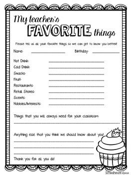 FREEBIE! Give this to your child's teacher to make gift-giving EASY this year!  I'm sending it to school tomorrow!