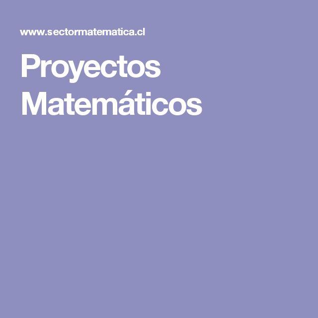 Proyectos Matemáticos