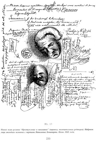 Pages from Dostoevsky's notebooks.