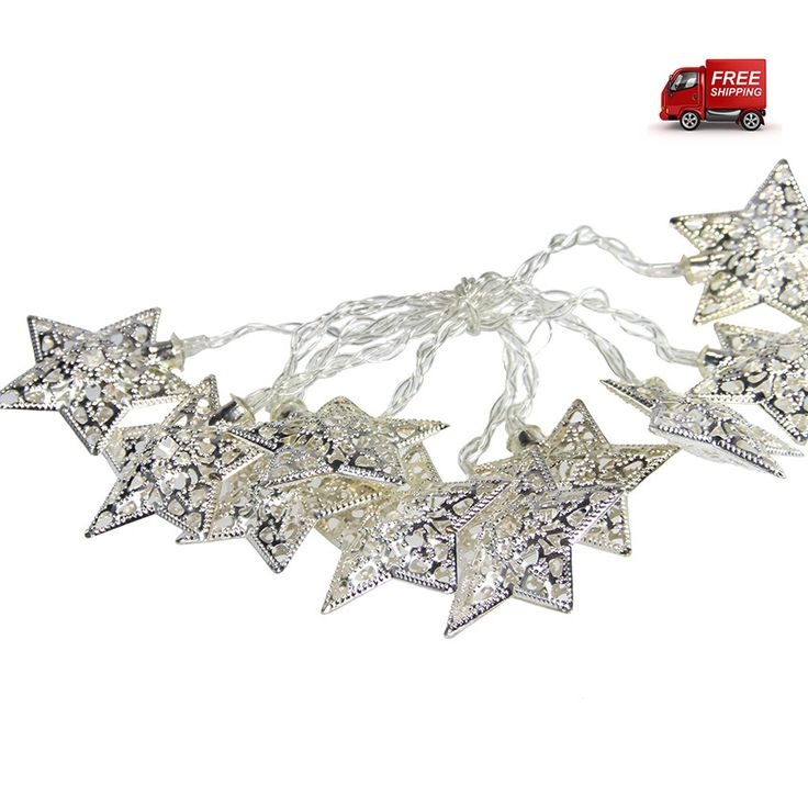 preciouspieces.com.au - Christmas Star Garland Lights - Silver, $25.00 (http://www.preciouspieces.com.au/christmas-star-garland-lights-silver/)