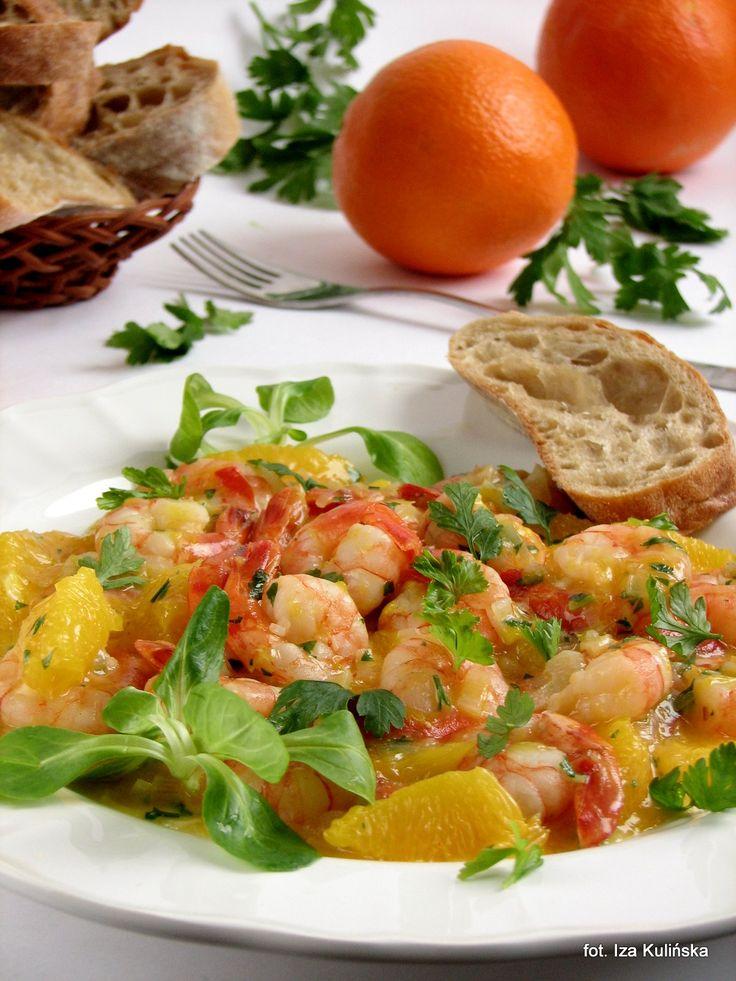 Smaczna Pyza: Krewetki z pomarańczami