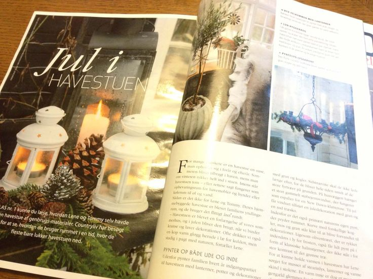 My greenhouse in Country Liv, Isabellas Danish magazin. All dressed up for Christmas.