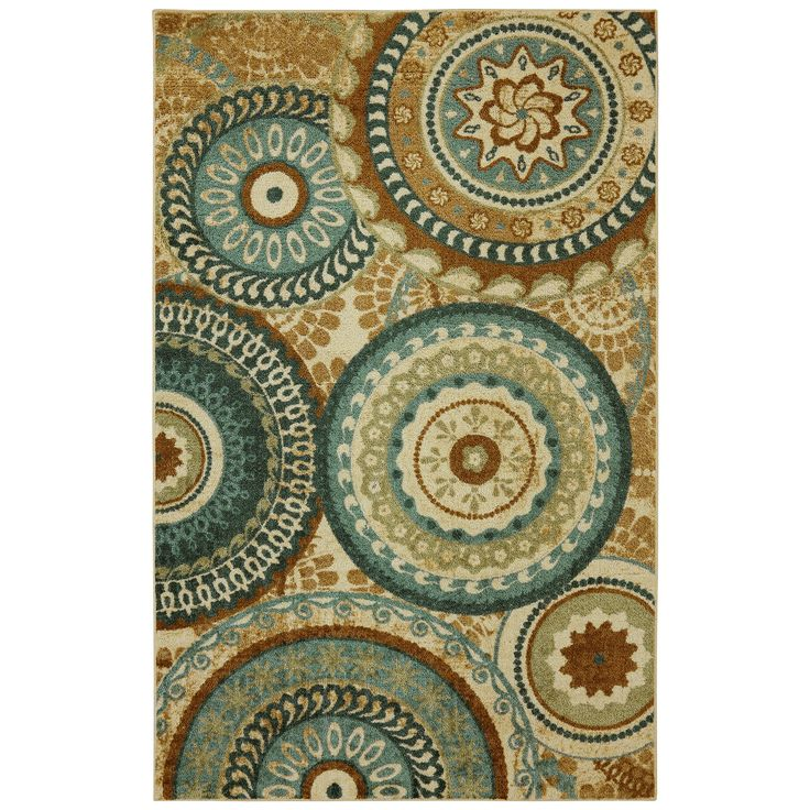 Mohawk Home Strata Teal Forest Suzani Area Rug & Reviews | Wayfair