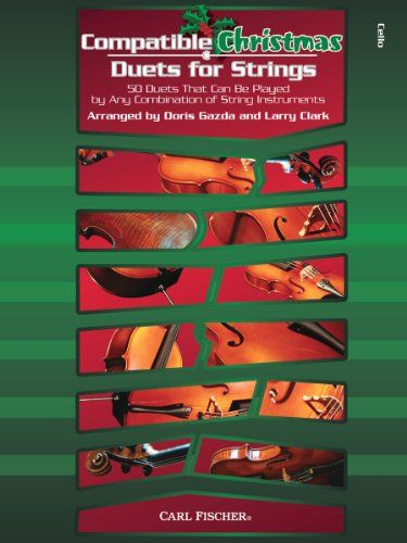 BF91 - Compatible Christmas Duets for Strings - Cello:   Building on the successful line of Compatible Duets for Strings and Compatible Trios for Strings, Doris Gazda and Larry Clark have now compiled 50 new duets, perfect for the holidays. All titles can be performed by any combination of string instruments for amazing flexibility.