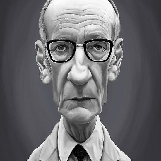 William Burroughs art   decor   wall art   inspiration   caricature   home decor   idea   humor   gifts