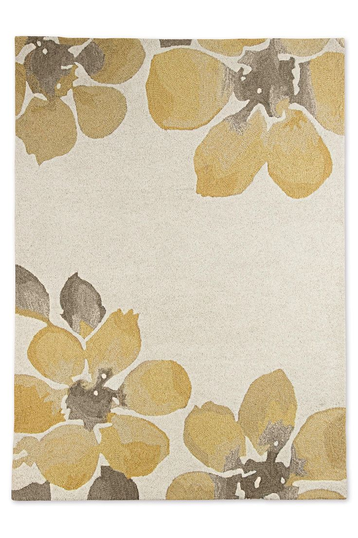 Wool Ochre Watercolour Bloom Rug From The Next Uk Online