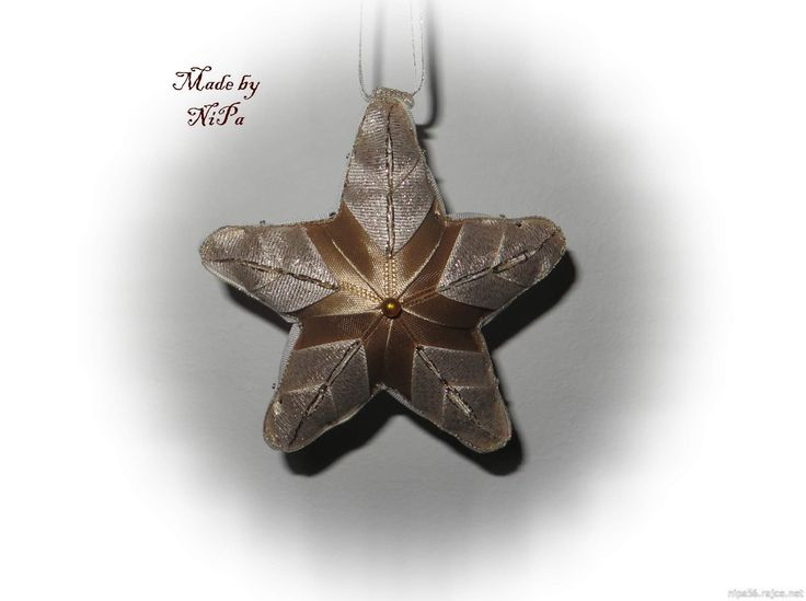 Falešný patchwork, patchwork, Patchwork without needle, Quilted Ornaments, artyčok, hvězda, hvězdička, vánoce, xmax, christmas, star