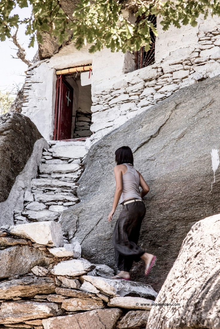Climbing the stairway to heaven: Ikaria island, Theoskepasti