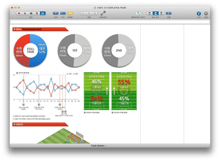 Sportstec Player Football Report created by our Korean distributor Link Data.