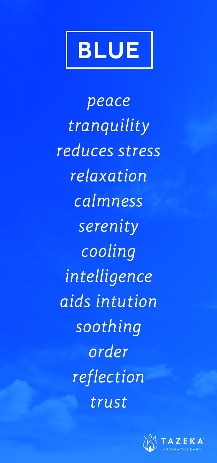 Blue Color Psychology http://www.tazekaaromatherapy.com