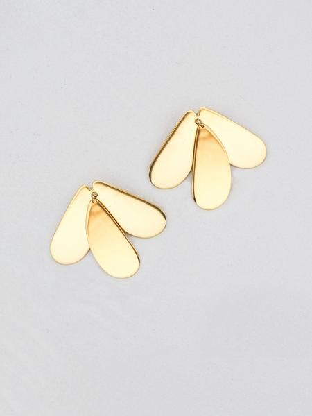 ELLERY | Gold Greed Earrings | The UNDONE