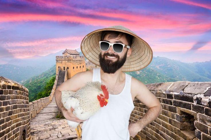 Neujahr 2017 in China – Hahn im Glück