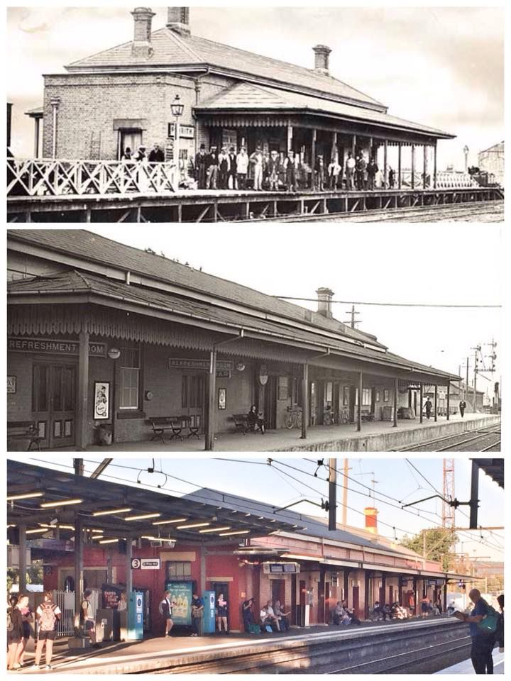 Penrith Railway Station 1862>1950>2015 [1862 & 1950: State Records NSW, 2015: Curt Flood. By Curt Flood]