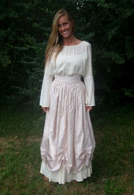 how to make pioneer skirts