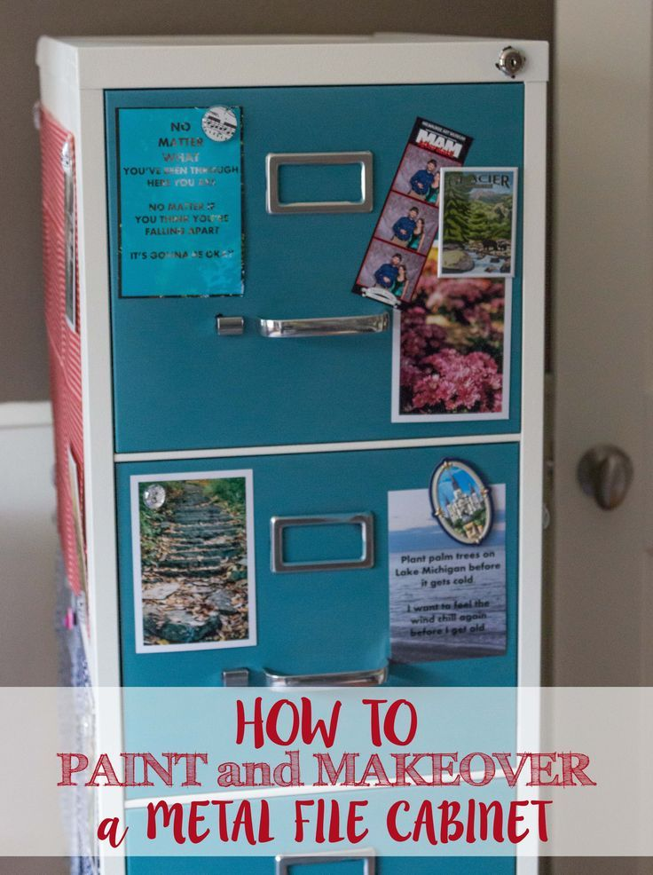 DIY How to Paint and Makeover a Metal File Cabinet | http://www.roseclearfield.com