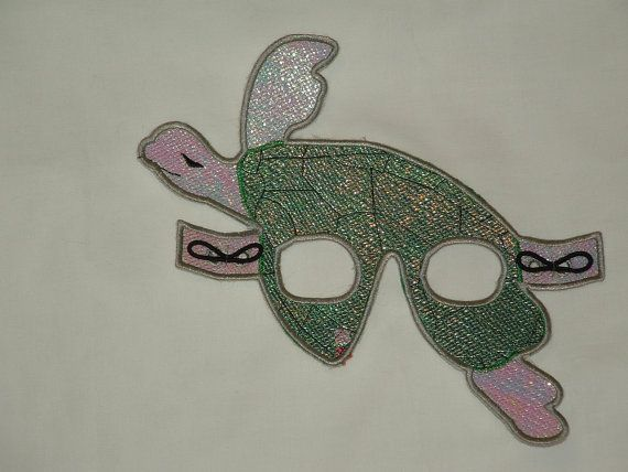 Sea Turtle Mardi Gras Mask for Glasses by cajunstitchery on Etsy, $15.00