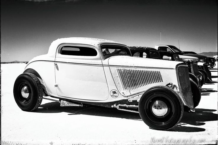 12x18 in. Poster, Vintage 1932 Ford Coupe Bonneville Racer Garage Art Man Cave