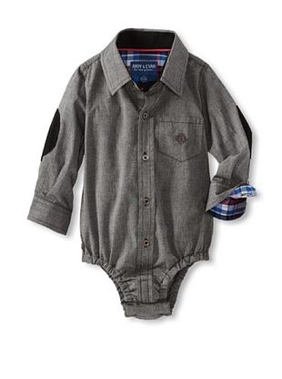 70% OFF Andy & Evan Baby Any Given Chambray Shirtzie (Charcoal/Black)