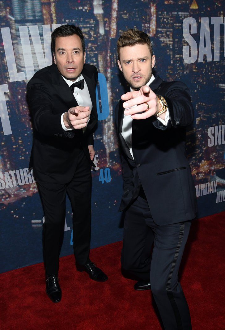 Pin for Later: Anyone Who's Anyone Was at the SNL 40th Anniversary Celebration Jimmy Fallon and Justin Timberlake