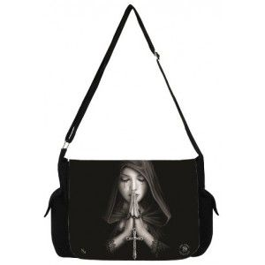 Gothic Prayer Messenger Bag by Anne Stokes - New at GothicPlus.com - your source for gothic clothing jewelry shoes boots and home decor.  #gothic #fashion #steampunk