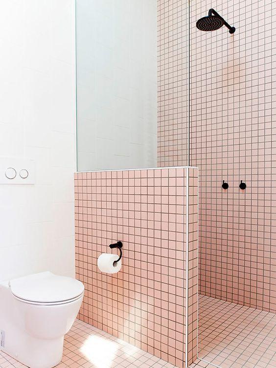 Casinha colorida. Dicas para o banheiro. Vaso sanitário e sala da ducha.