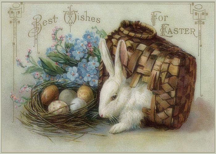 Открытка пасхальный заяц, национальным праздниками