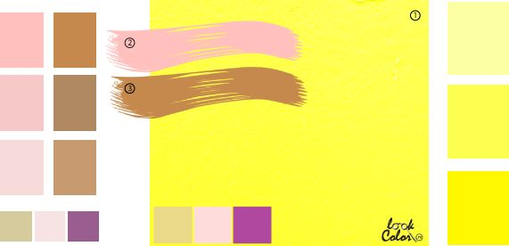 Светло-желтый цвет, сочетание желтого цвета