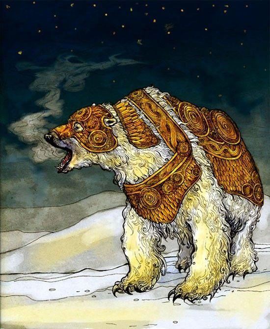 Iorek Byrnison -The Golden Compass - I love the Golden Age illustration style