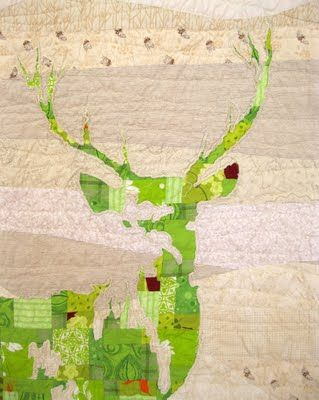 The image of a stag is particulary Scottish but this fresh green is a lovely contrast to the normal dark silhouettes.