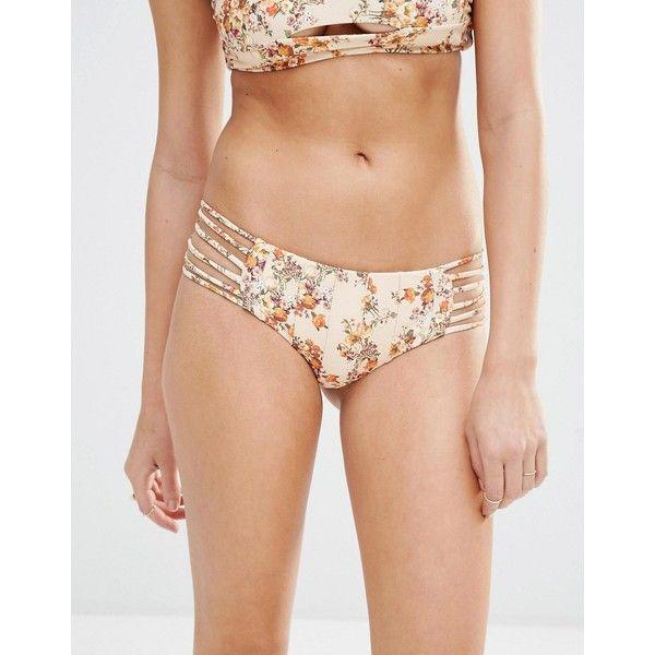 Boys & Arrows Shifty Sherman Bikini Bottom (57 CAD) ❤ liked on Polyvore featuring swimwear, bikinis, bikini bottoms, multi, cut out bikini bottoms, color block bikini, bikini bottom, bikini swimsuit and hipster bikini bottom