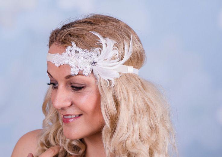 Haarschmuck & Kopfputz - Braut Blumenband Boho Perlen Trachten Pre 68 - ein Designerstück von Perle-Wismer bei DaWanda