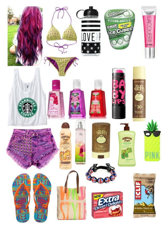 """""""Beach day with Soda"""" by jude-blossoms ❤ liked on Polyvore featuring Havaianas, Manic Panic NYC, Aéropostale, Victoria's Secret, Sun Bum, Maybelline, Hawaiian Tropic and Simeon Farrar"""