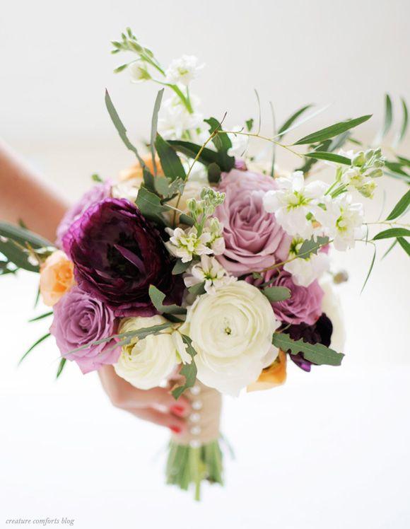 DIY Wedding Bouquet tips on Creature Comforts Blog
