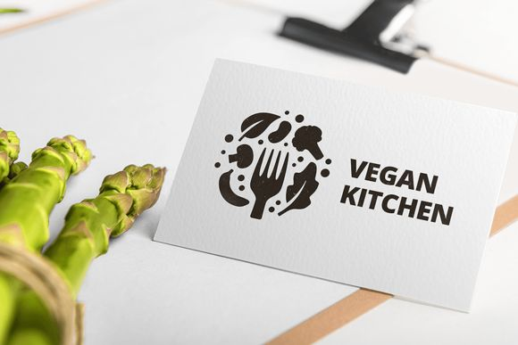 Vegan Kitchen Logo Template by Martz on Creative Market