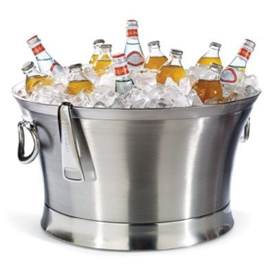 """Optima Beverage Tub - double walled stainless steel ensures maximum cold retention and no condensation. 21"""" and 17"""""""