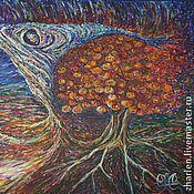 """Картины и панно ручной работы. Ярмарка Мастеров - ручная работа Хэллоуин, иллюстрация к произв-ию Р. Брэдбери """"Канун всех святых"""". Handmade."""