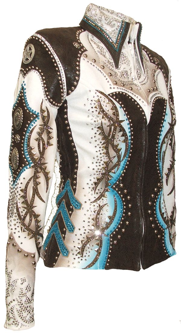 Tooled Leather Jacket :: 142-49 :: Horse Show Riding Jackets :: Show Me Again