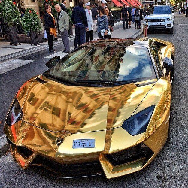 Was halten Sie von diesem goldenen Lamborghini? Wären Diamanten besser? – #Diam… – Auto