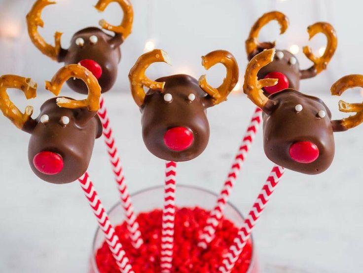 Chocolate Covered Marshmallow Reindeer Christmas Treats Recipe