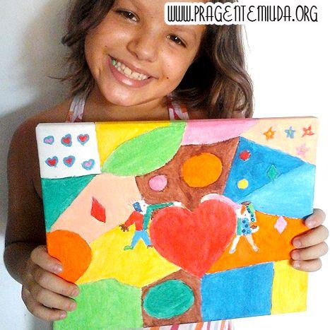 Plano de aula para educação infantil que tem por objetivo fazer a releitura de obras de arte e com isto trazer para o cotidiano das criança...