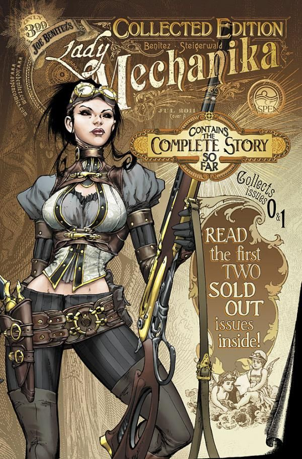 I try to resist some of the dumber steampunk stuff, but I'll make room for this one: Lady Mechanika Comic by Joe Benitez