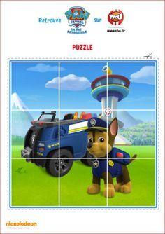 Et si tu faisais un puzzle ? Imprime et découpe vite le puzzle de Chase de la Pat'Patrouille. Tu découvriras Chase et son super véhicule sur le dessin. Retrouve encore plus d'activités et de coloriages de Chase de la Pat'Patrouille sur TFou.fr.