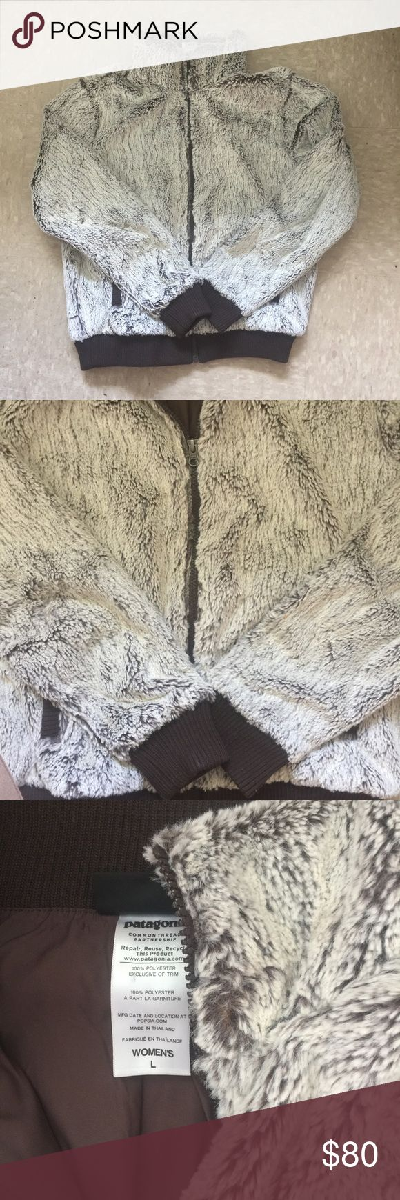 Patagonia Women's Faux Fur Jacket! 100% polyester super soft faux-fur jacket size Large only worn once! Patagonia Jackets & Coats
