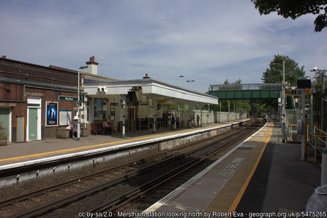 Merstham station looking north 2017
