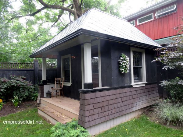 24 best hip roof design images on pinterest bungalows for Pre built garden rooms