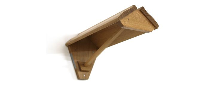 wall mounted rack empty bottom angle