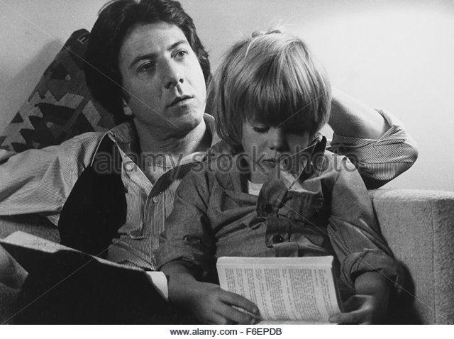 Dustin Hoffman et Justin Henry, On-Set du Film, Kramer contre Kramer, 1979