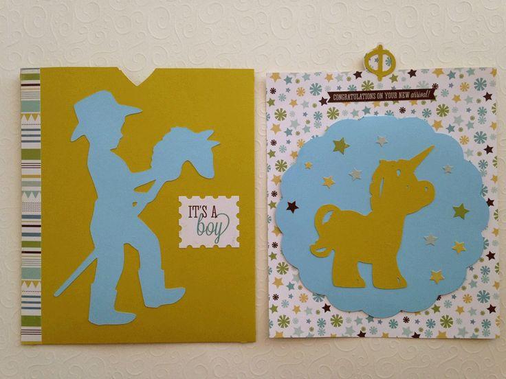 Κάρτα για νεογέννητο, μονόκερος Newborn card, unicorn